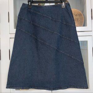 Harolds Diagonal Seam Denim Skirt Size 6